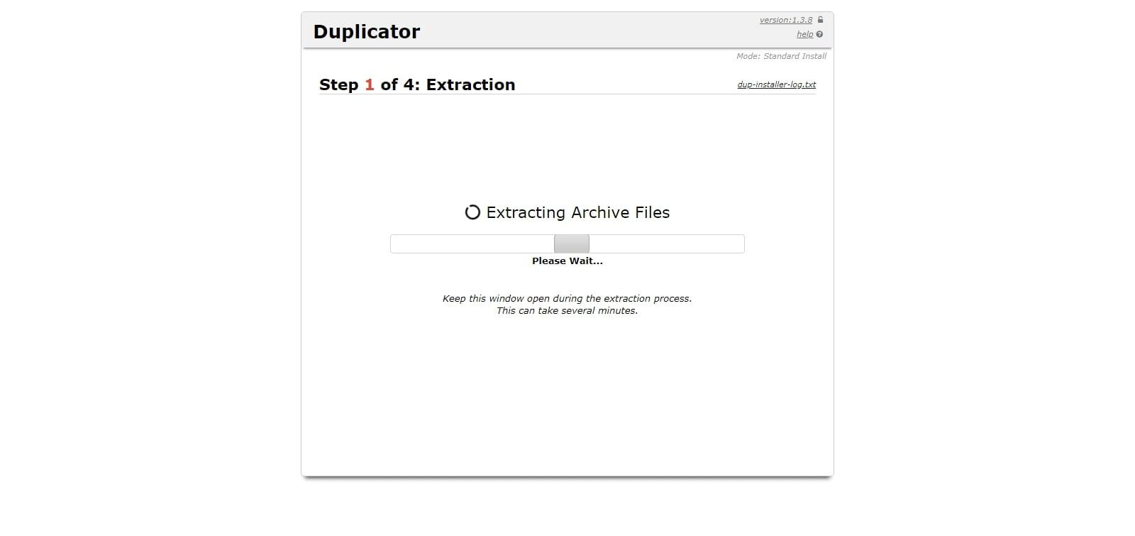 اکسترکت شدن فایلهای بستهی آسان نصب
