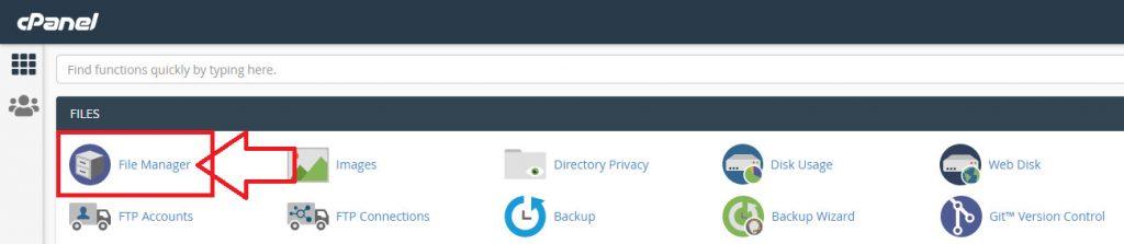 فایل منیجر File Manager در Cpanel
