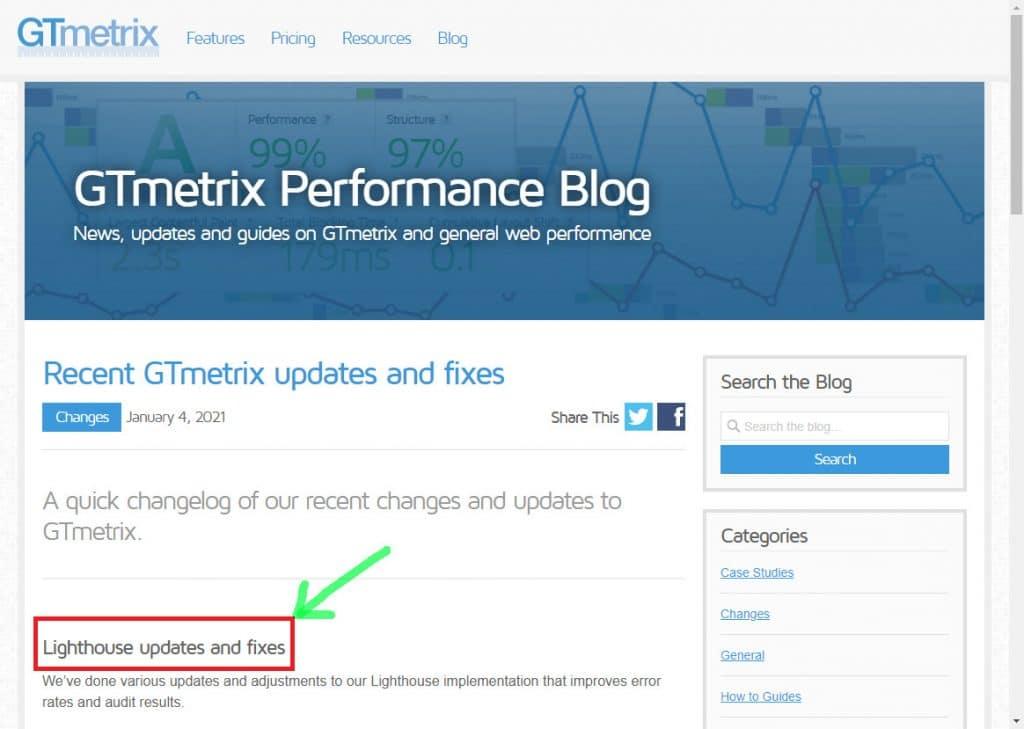آپدیت جیتیمتریکس GTMetrix با API از Google Lighthouse | شایان وب