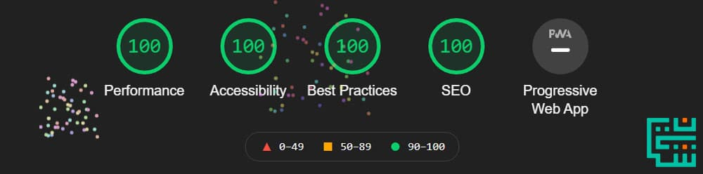امتیاز 100 کامل در گوگل لایت هاوس | Google Lighthouse 100 score | شایان وب