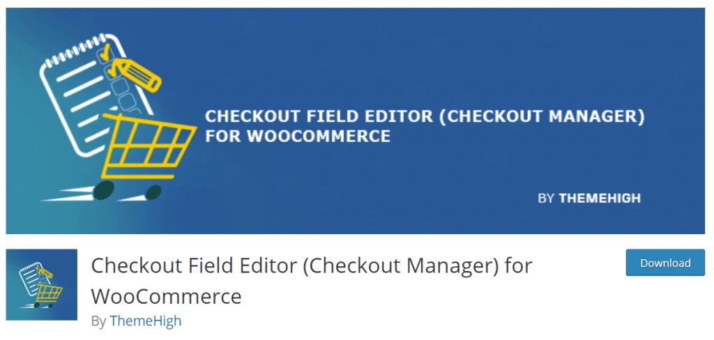 بهترین افزونهی ویرایش فرم تسویهحساب ووکامرس checkout field editor for woocommerce در wordpress.org