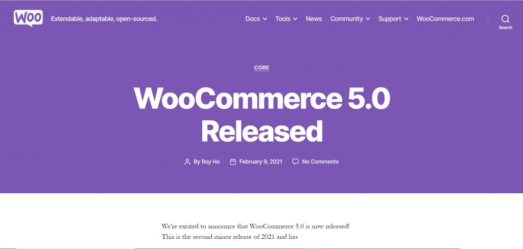 ووکامرس 5.0 منتشر شد! | سایت رسمی ووکامرس