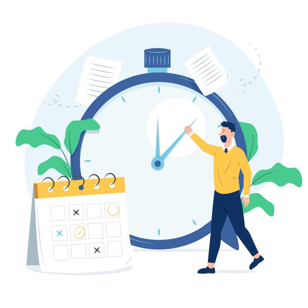 زمان مورد نیاز برای پیادهسازی